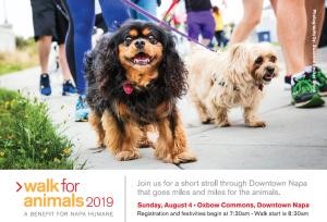 Napa Humane's 8th Annual Walk for Animals