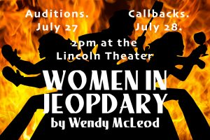 Auditions for Women in Jeopardy