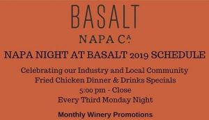 Napa Night at Basalt featuring HALL