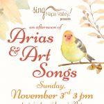 Sing Napa Valley presents Arias & Art Songs