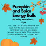 Pumpkin and Spice Energy Balls