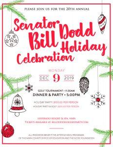 Senator Bill Dodd's 20th Annual Holiday Celebration