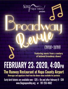 Sing Napa Valley Presents Broadway Review (1920-2019)