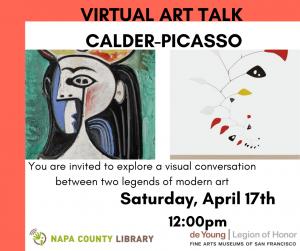 Napa County Library Presents Virtual Art Talk: Calder-Picasso