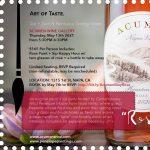 Acumen Wine Gallery Presents: Art of Taste. Flavor...