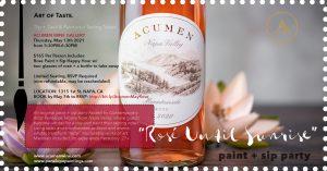 Acumen Wine Gallery Presents: Art of Taste. Flavor Lab. Sip + Swirl & Paint Your Tasting Notes