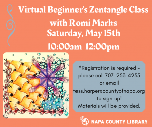 Napa County Library Virtual Beginner's Zentangle Class